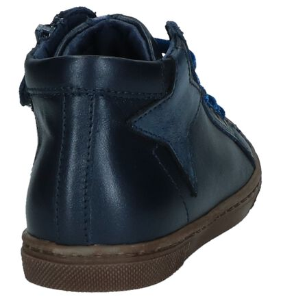 Stones and Bones Chaussures hautes en Bleu foncé en cuir (223376)