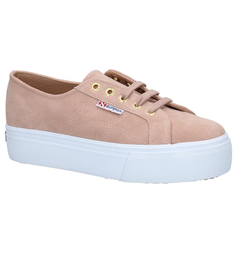 Superga Roze Sneakers in nubuck (284299)