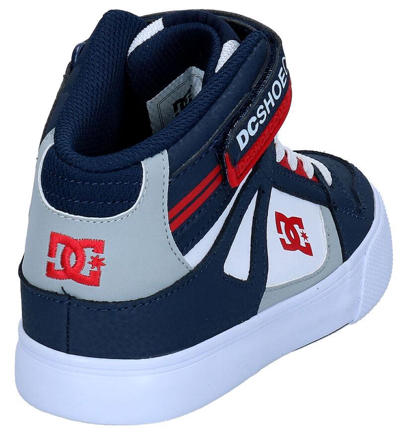 DC Shoes Pure High Top Baskets en Bleu en cuir (274391)