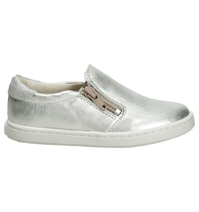 Norvik Hot Zilver Sneakers Slip-On in leer (195410)