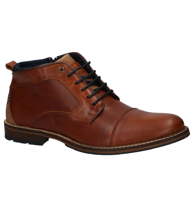 Bullboxer Chaussures hautes en Cognac en cuir (276993)