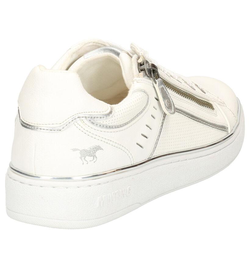 Mustang Chaussures à lacets en Blanc en simili cuir (266724)