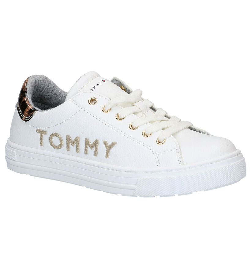 Tommy Hilfiger Witte Veterschoenen in kunstleer (279887)