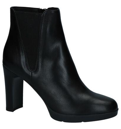 Geox Zwarte Enkellaarzen met High Heels, Zwart, pdp
