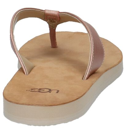 Rose Gold Teenslippers UGG Tawney in leer (210296)
