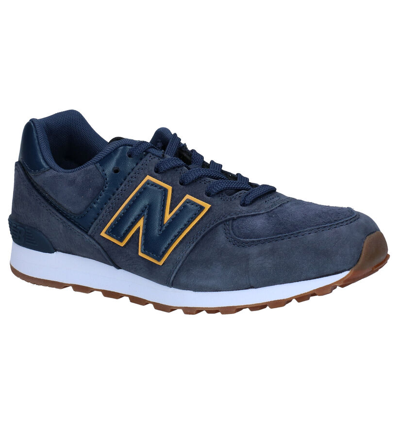 New Balance GC574 Blauwe Sneakers in daim (276823)