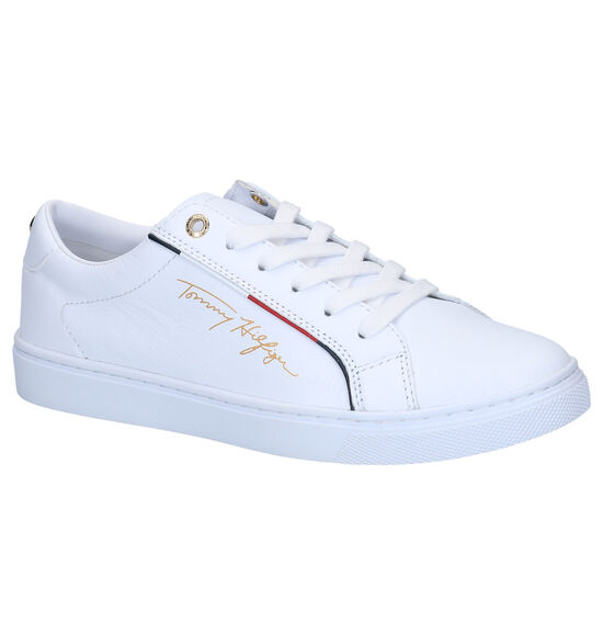 Tommy Hilfiger Signature Witte Sneakers