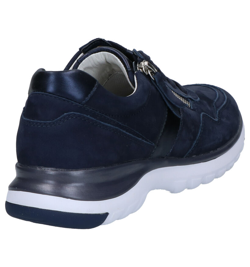 Gabor OptiFit Blauwe Veterschoenen in nubuck (265837)