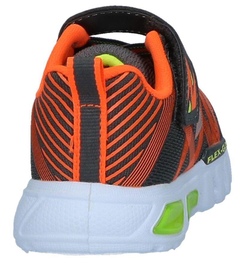 Oranje Sneakers Skechers Flex Glow in stof (250704)