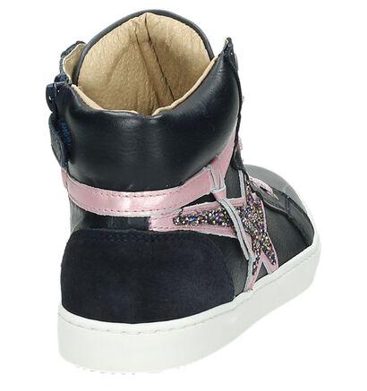 Blauwe Kanjers Hoge Sneakers, Blauw, pdp