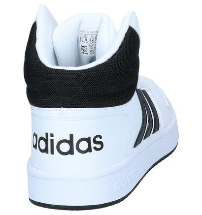 adidas Hoops 2.0 Mid Baskets en Noir en simili cuir (237420)