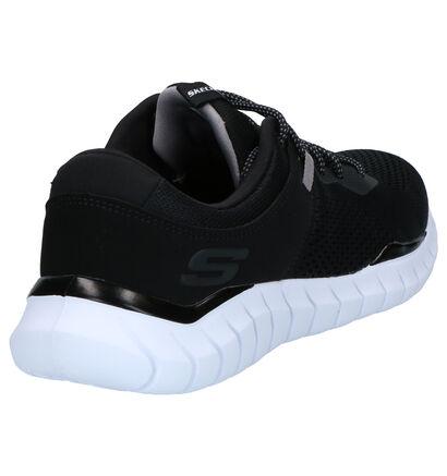 Skechers Zwarte Sneakers in stof (262783)