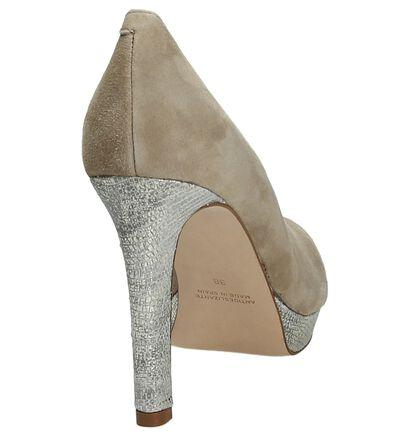 Beige High Heel Pumps Pedro Miralles in daim (178108)