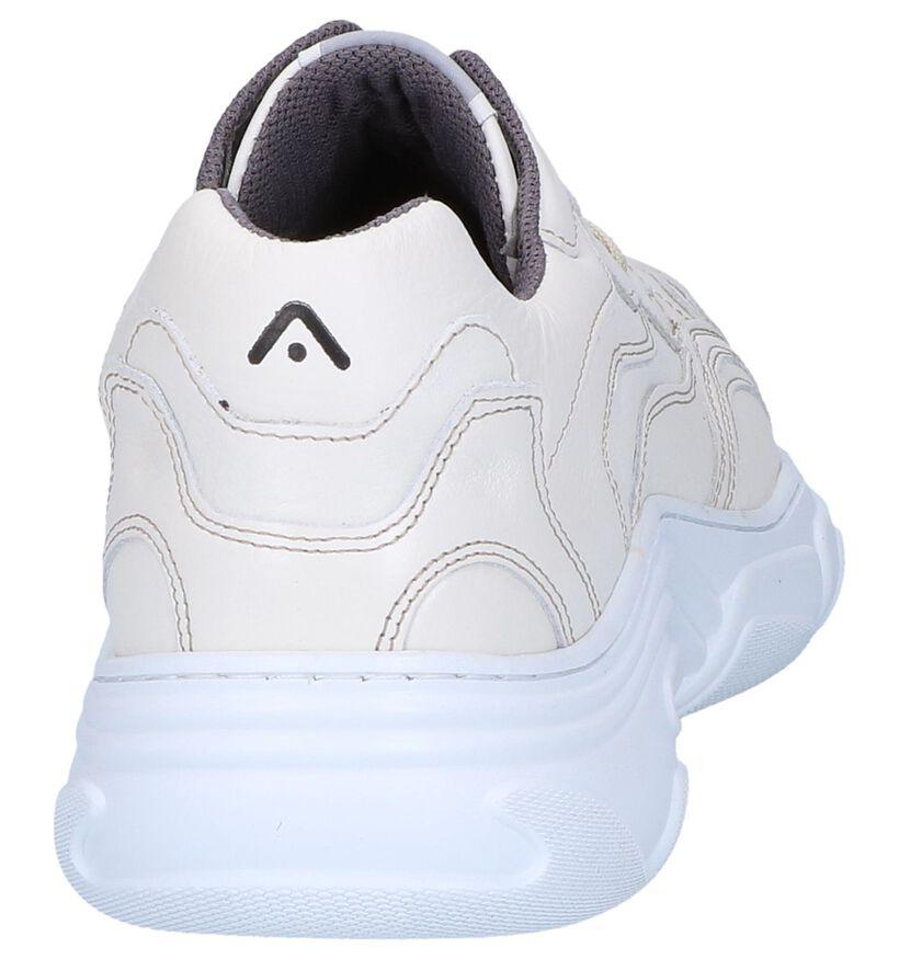 Ecru Sneakers Ambitious in leer (251740)