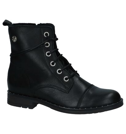 Zwarte Boots met Rits/Veter Scapa, Zwart, pdp
