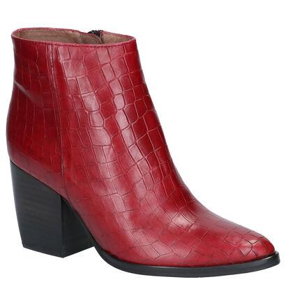 Wonders Bottillons en Rouge foncé en cuir (259730)