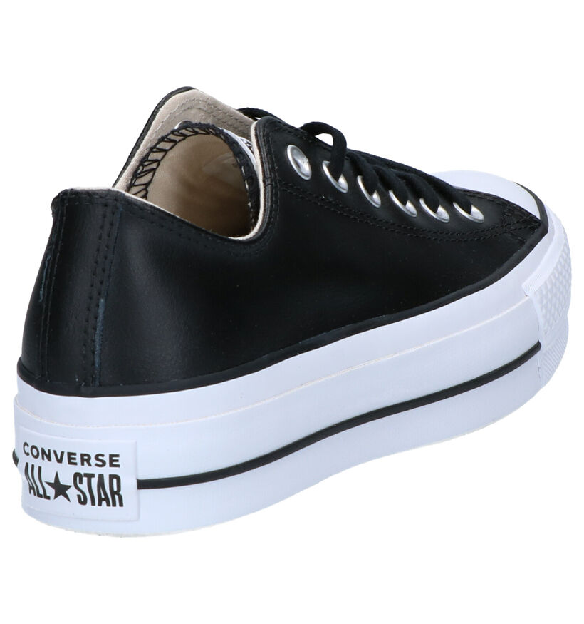 Converse All Star Lift Clean Zwarte Sneakers in leer (263344)