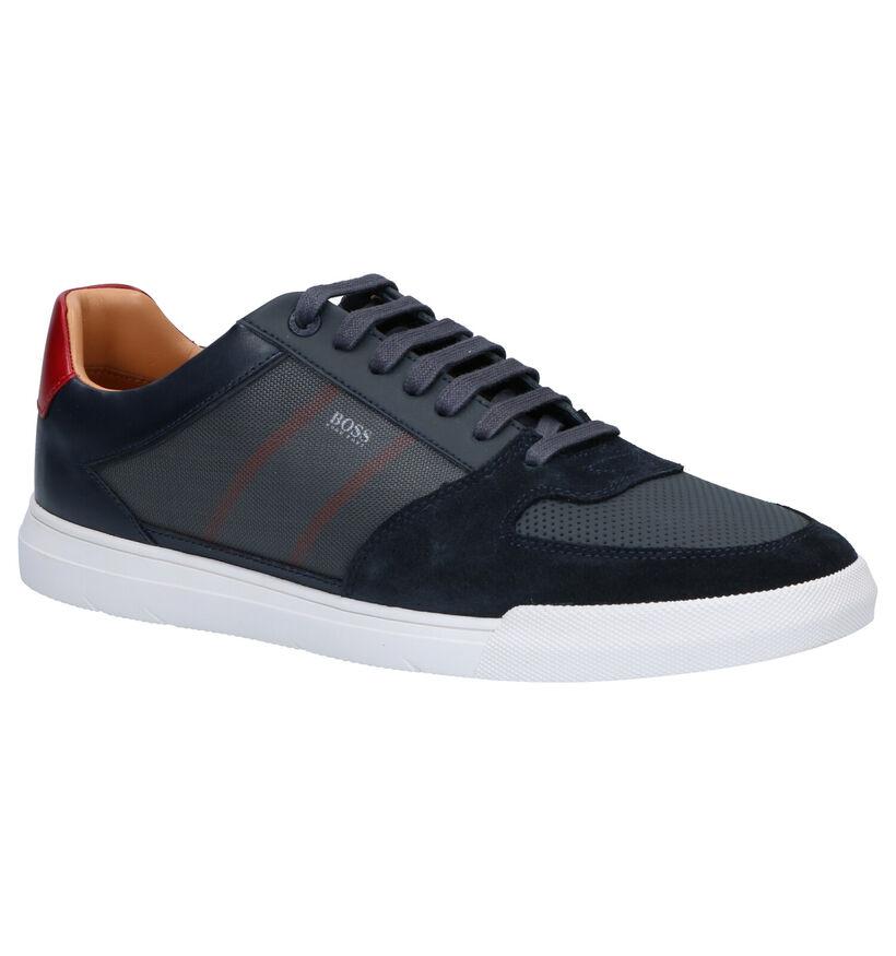 Hugo Boss Cosmo Tenn Chaussures à Lacets en Bleu en daim (264770)