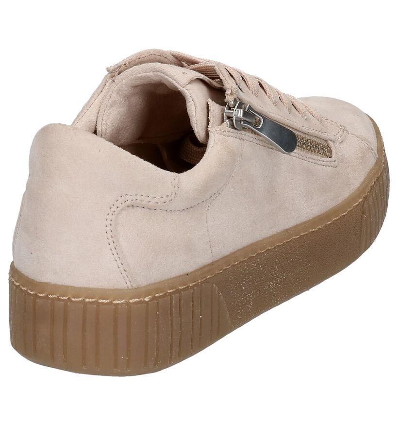 Youh! Chaussures à lacets en Beige clair en textile (265848)