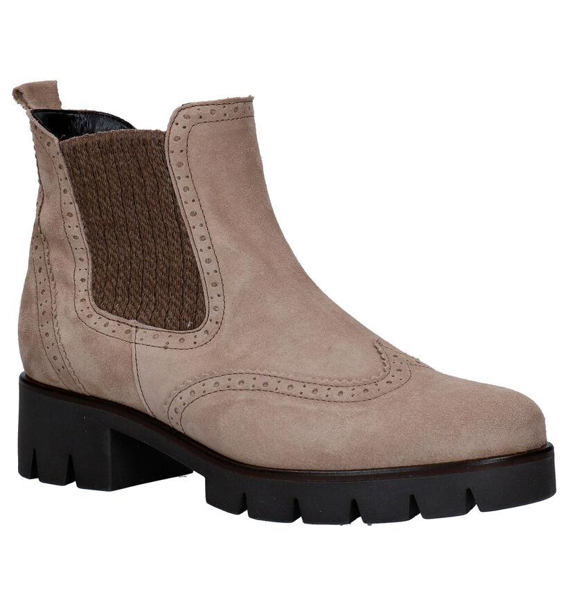 Gabor Best Fitting Beige Boots in nubuck (282376)