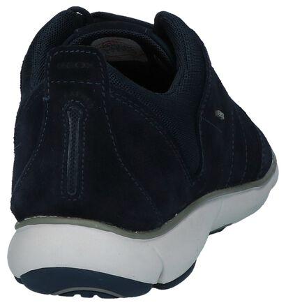 Donker Blauwe Sneakers Geox Nebula in stof (223064)