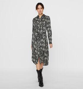 Vero Moda Becky Robe Chemise en Noir/Blanc (289796)