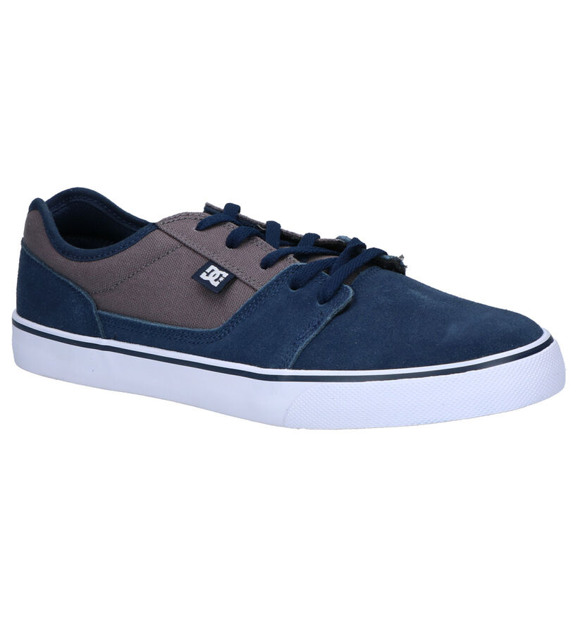 DC Shoes Tonik Blauwe Sneakers in nubuck (286006)