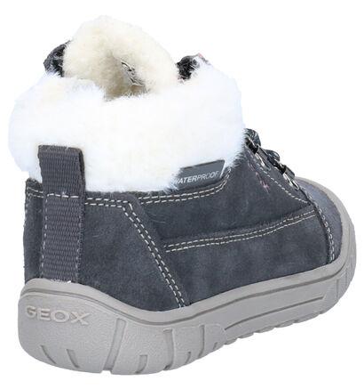 Geox Grijze Boots in daim (254497)