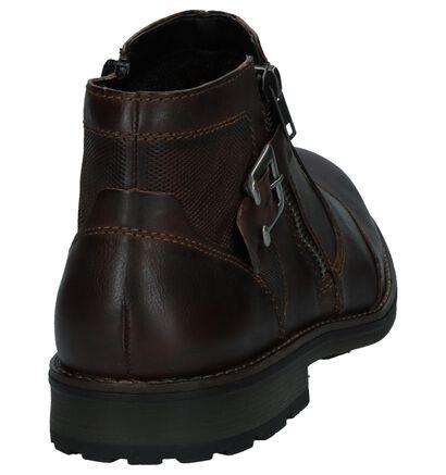 Donkerbruine Geklede Boots Rieker in leer (234658)