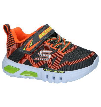 Zwarte Sneakers Skechers Flex Glow in stof (250703)