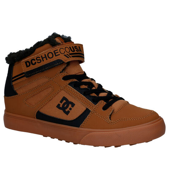 DC Shoes Pure High Top Cognac Sneakers