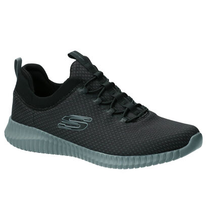 Skechers Elite Flex Belburn Zwarte Slip-on Sneakers in stof (254278)