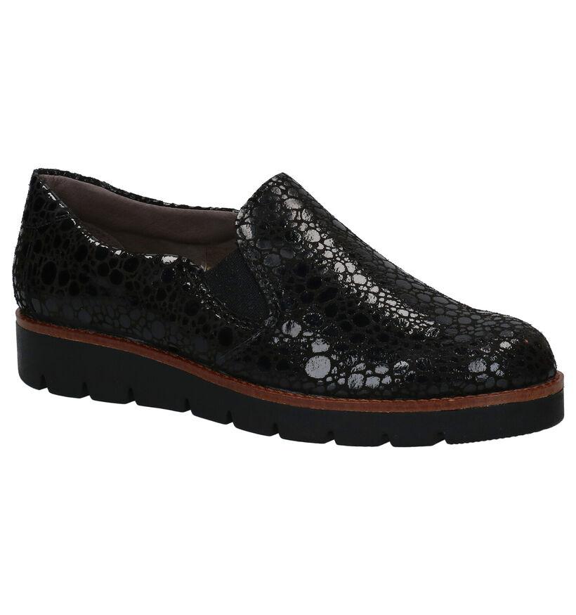Mirel Chaussures slip-on en Noir en cuir (279838)
