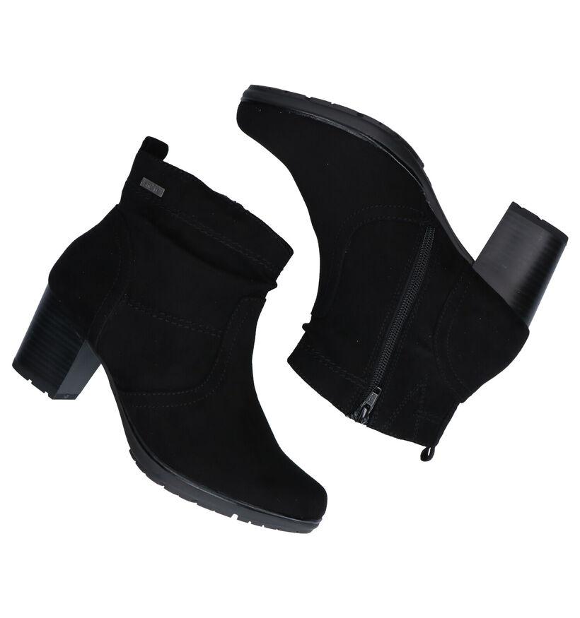 Jana Bottillons à talons en Noir en textile (280901)