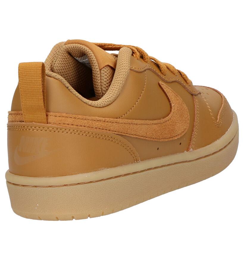 Nike Court Borough Zwarte Sneakers in kunstleer (284469)