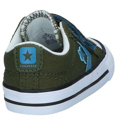 Donkerblauwe Babysneakers Converse Star Player, Groen, pdp