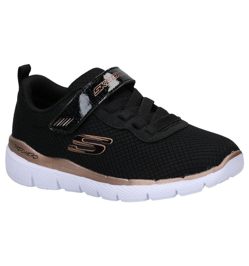 Skechers Skech Appeal 3.0 Zwarte Sneakers in stof (277911)