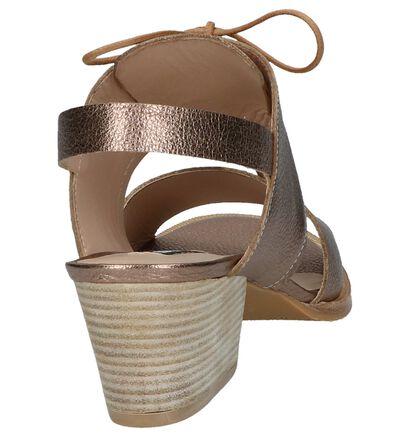 Zinda Sandales à talons en Bronze en cuir (220126)