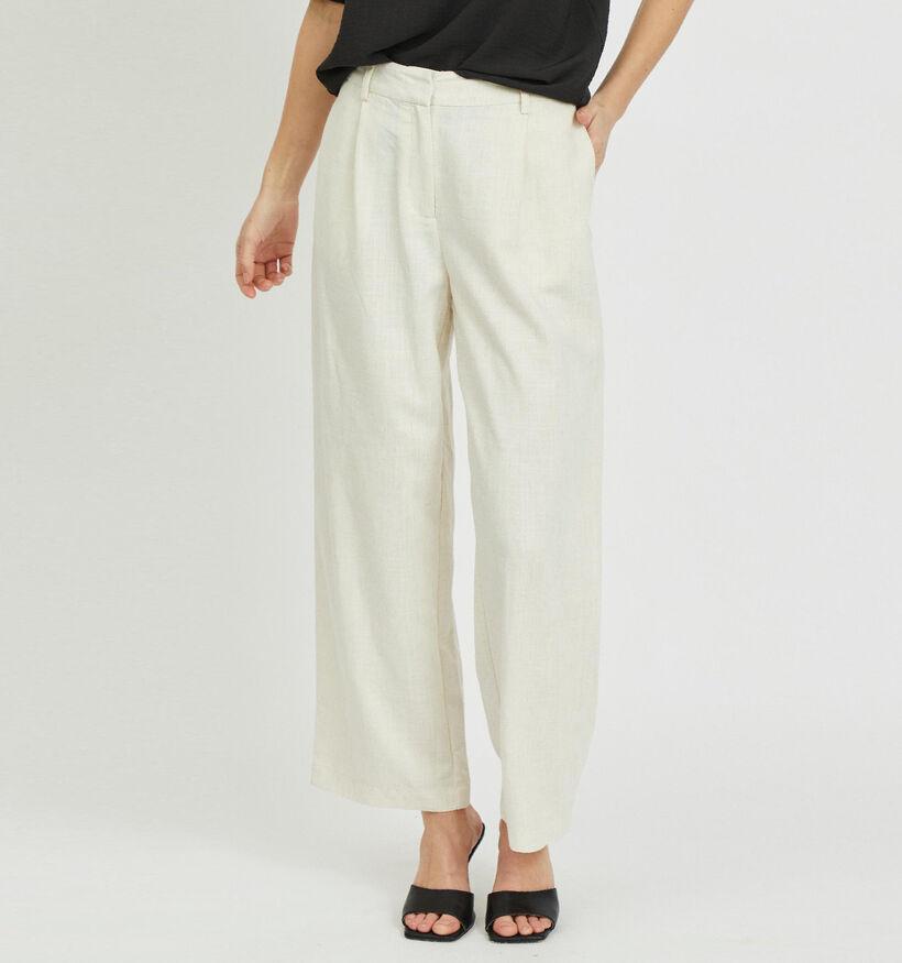 Vila Amsha Wide Pantalon en Beige (301036)