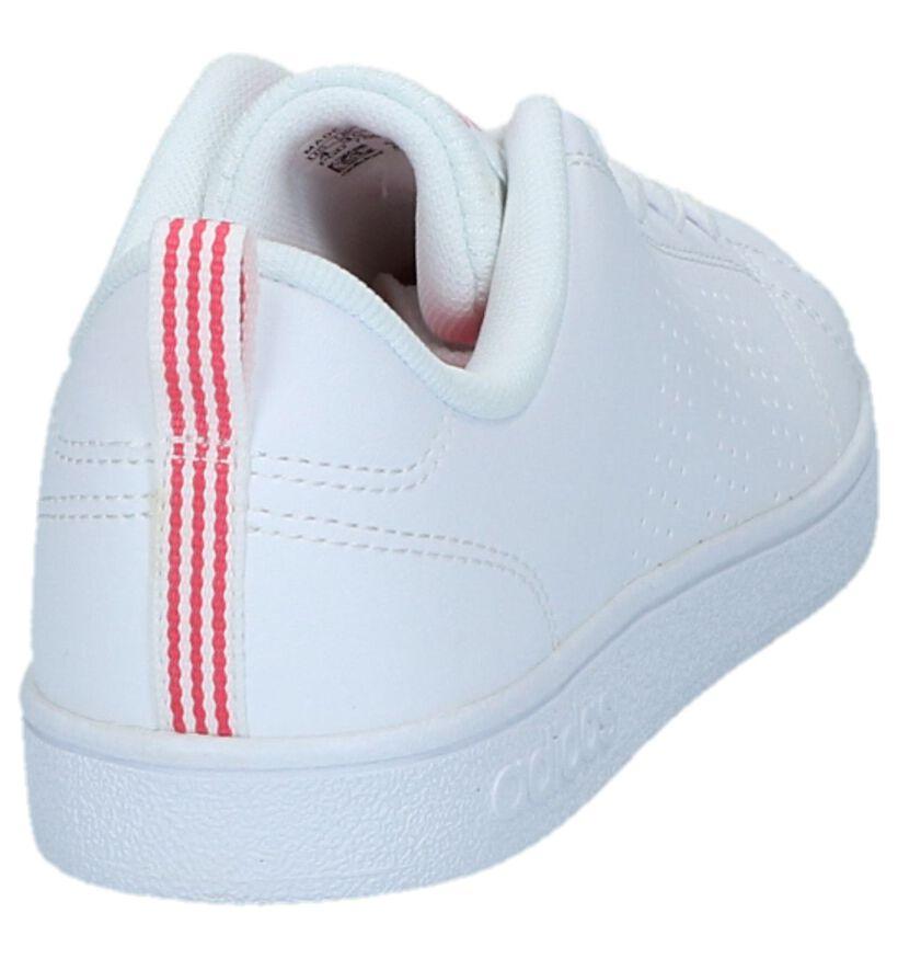 adidas VS Advantage Clean Baskets en Blanc en simili cuir (264227)