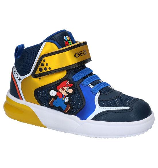 Geox Super Mario Blauwe Sneakers