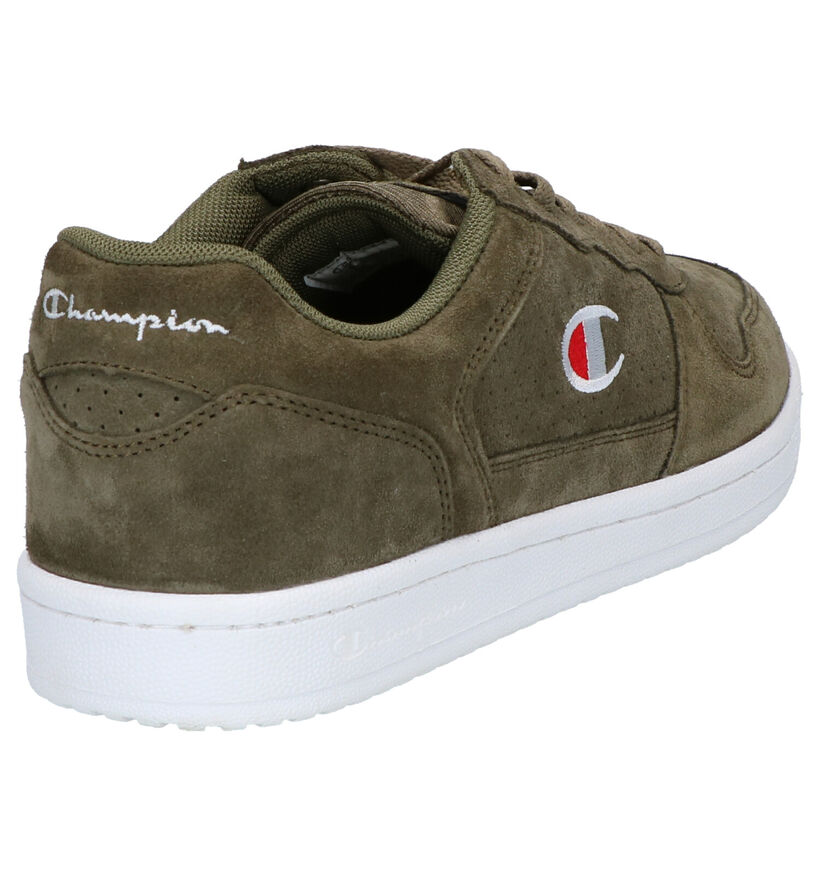 Champion Chicago Baskets en Vert kaki en daim (253545)