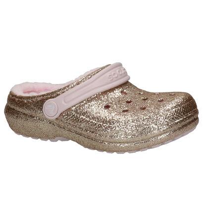 Crocs Classic Glitter Line Rose Gold Pantoffels in kunststof (255721)