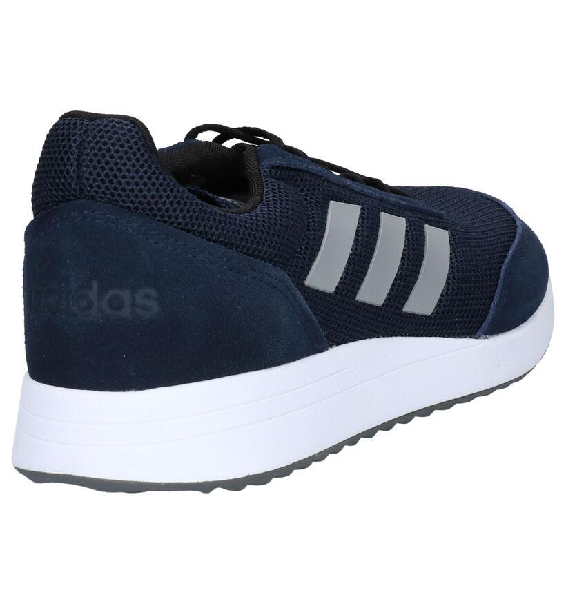 adidas Run 70S Zwarte Sneakers in stof (252559)