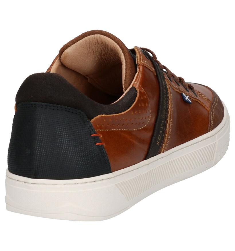 Scapa Chaussures basses en Cognac en cuir (246081)