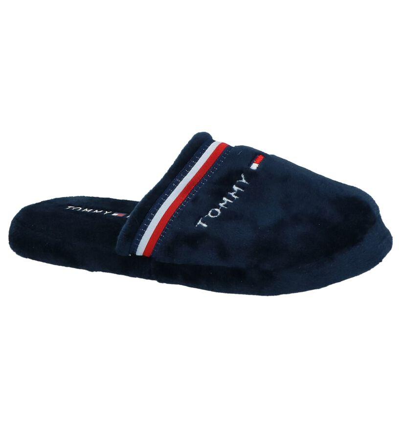 Tommy Hilfiger Donker Blauwe Pantoffels in stof (225269)