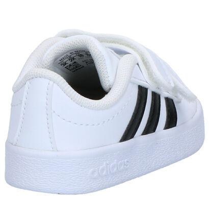 adidas VL Court 2.0 Zwarte Sneakers in kunstleer (252554)