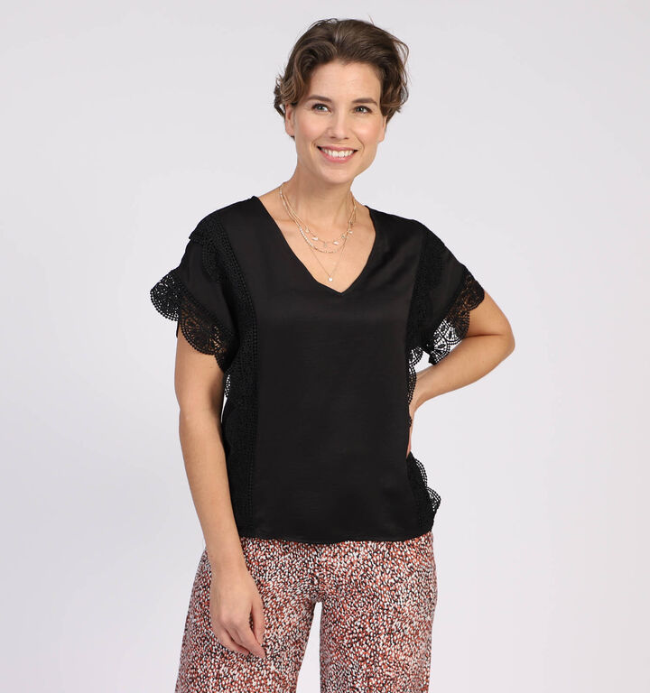 Vero Moda Caluna T-shirt en Noir