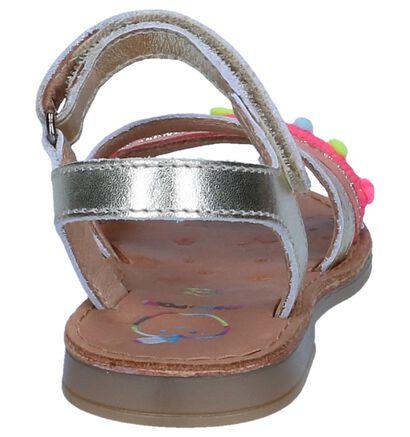 Gouden Sandalen Shoo Pom Happy Pompon in leer (242891)