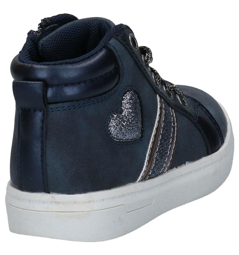 K3 Chaussures hautes en Bleu foncé en simili cuir (280761)